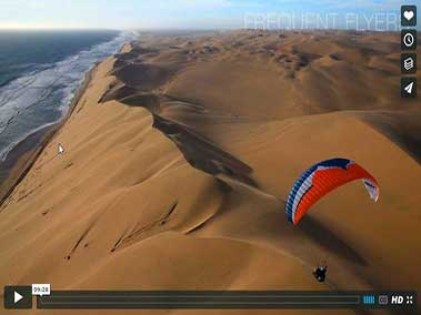 Paragliding over the Dunes at the coast